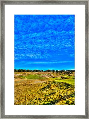 #4 At Chambers Bay Golf Course - Location Of The 2015 U.s. Open Championship Framed Print