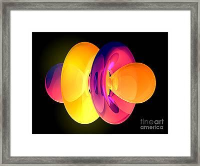 4fz3 Electron Orbital Framed Print by Laguna Design