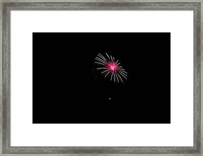 4th Of Julyfireworks Colechester Vt Framed Print by Barretreasures Photography