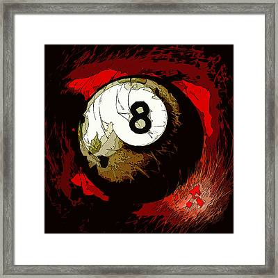 8 Ball Billiards Abstract Framed Print