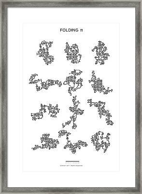 9 Paths Of 768 Digits Of Pi Framed Print by Martin Krzywinski