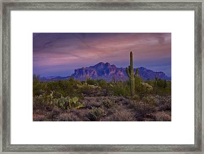 A Beautiful Desert Evening  Framed Print