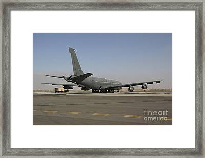 A Boeing 707 Reem Of The Israeli Air Framed Print by Ofer Zidon