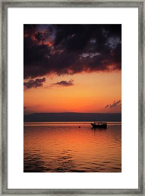 A Calm Settles On The Sea Of Galilee Framed Print