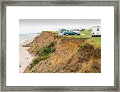 A Chalet On A Holiday Park Framed Print