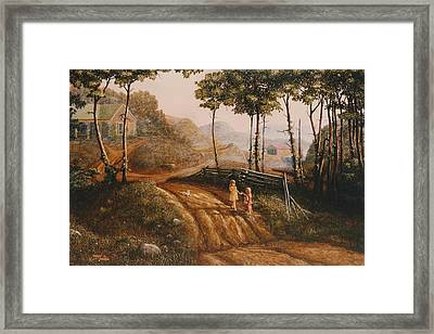 A Country Lane Framed Print