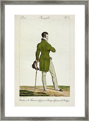 A Dandy  Framed Print by Antoine Charles Horace Vernet