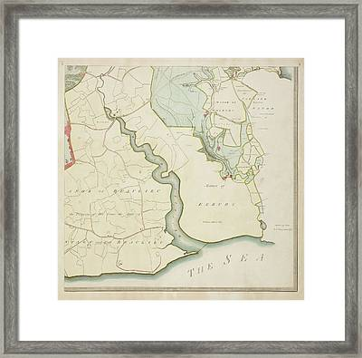 A Detailed Survey Map Of The New Forest Framed Print
