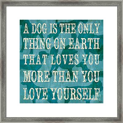 A Dog Framed Print