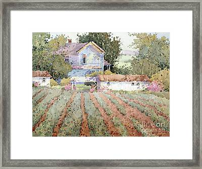 A Farmhouse I Saw In Virginia Framed Print