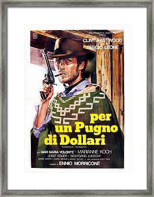 A Fistful Of Dollars Aka Per Un Pugno Framed Print by Everett