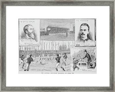 A Football Match Framed Print by British Library