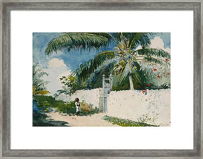 A Garden In Nassau Framed Print by Celestial Images