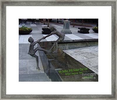 A Helping Hand Framed Print by Bob Sample