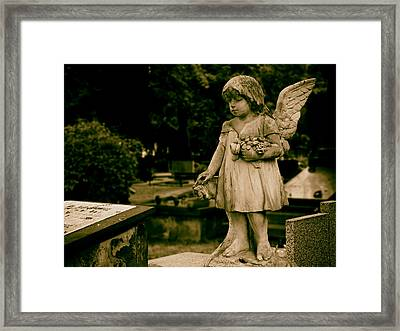 A Little Angel Watching Over Framed Print