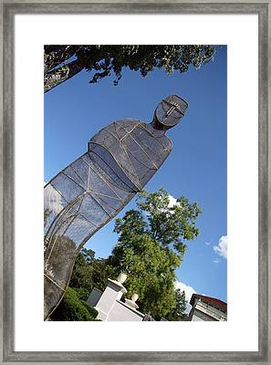 Framed Print featuring the photograph Minujin's A Man Of Mesh by Cora Wandel