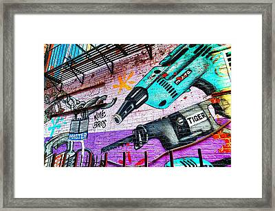 A Man's Tools Framed Print by Diana Angstadt