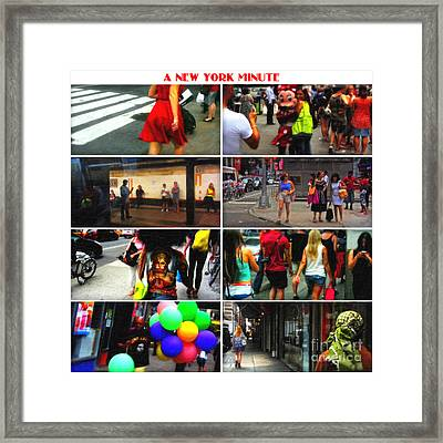 A New York Minute Framed Print by Nishanth Gopinathan