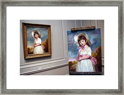Framed Print featuring the photograph A Painting Of A Painting by Cora Wandel