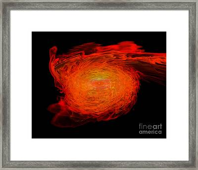 A Pair Of Neutron Stars Colliding Framed Print