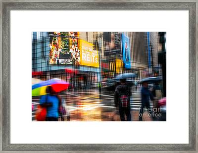 A Rainy Day In New York Framed Print