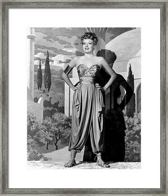A Thousand And One Nights, Evelyn Framed Print by Everett