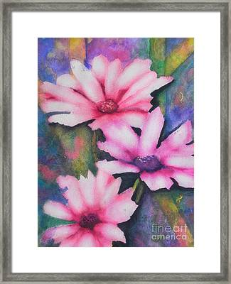 A Touch Of Pink Framed Print by Chrisann Ellis