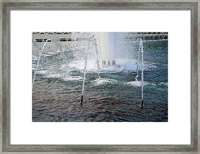 Framed Print featuring the photograph A World War Fountain by Cora Wandel