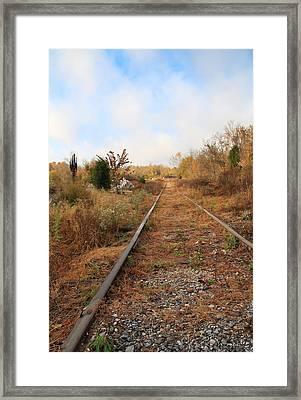 Abandoned Tracks Framed Print by Melinda Fawver