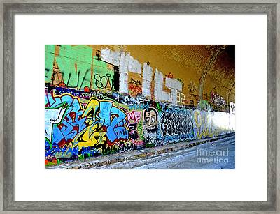 Abandoned Train Tunnel South Of The Old Train Roundhouse At Bayshore Near San Francisco  Framed Print by Jim Fitzpatrick