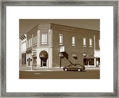 Abilene Kansas - 2nd And Broadway Framed Print by Frank Romeo
