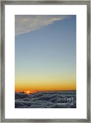 Above Cloudscape At Sunset Framed Print by Sami Sarkis