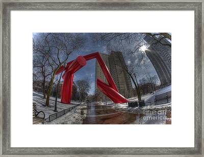 Abstract Dueling Tampons - Upenn Framed Print by Mark Ayzenberg