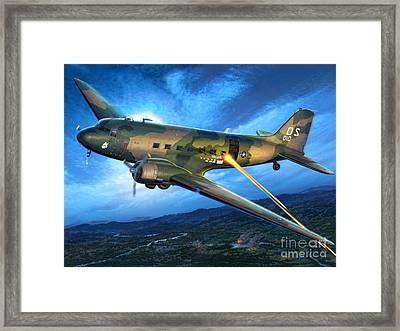 Ac-47 Spooky Framed Print by Stu Shepherd