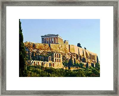 Acropolis Framed Print by Ellen Henneke