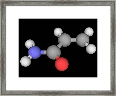 Acrylamide Molecule Framed Print by Laguna Design/science Photo Library