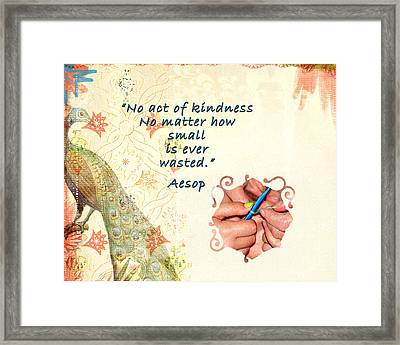 Act Of Kindness Framed Print