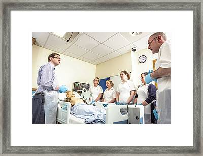 Acute Care And Resuscitation Training Framed Print by Gustoimages