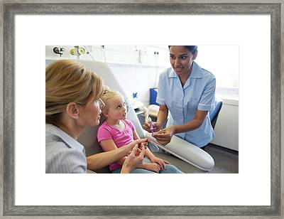 Administering Antibiotics Framed Print by Science Photo Library