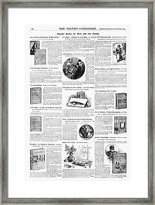 Advertisement Books, 1890 Framed Print by Granger