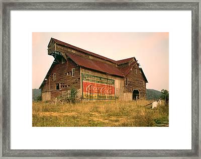 Advertising Barn Framed Print by Gary Grayson