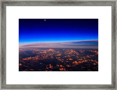 Aerial Moonrise Framed Print by Jonathan Gewirtz