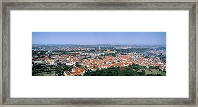 Aerial View Of A City, Prague, Czech Framed Print by Panoramic Images