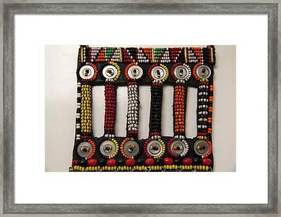 Africa, Kenya Maasai Tribal Beadwork Framed Print by Kymri Wilt