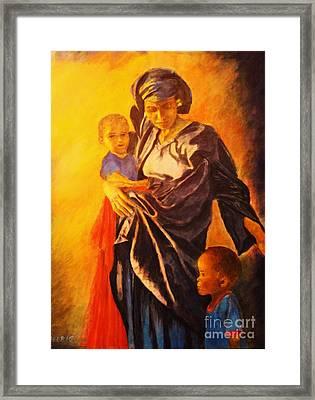 African Madonna Framed Print by Dagmar Helbig