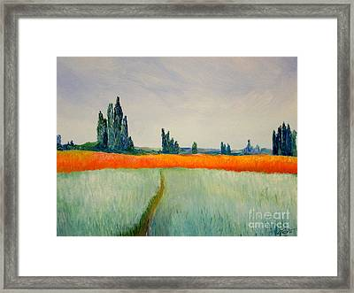 After Monet Framed Print by Bill OConnor