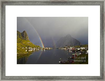 After The Rain In Reine Framed Print by Heiko Koehrer-Wagner