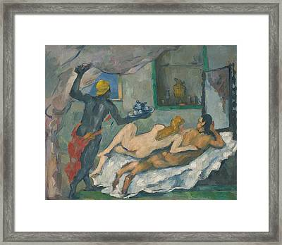 Afternoon In Naples Framed Print by Paul Cezanne