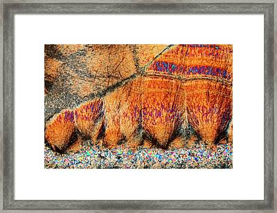 Agate. Polarised Light Micrograph Framed Print
