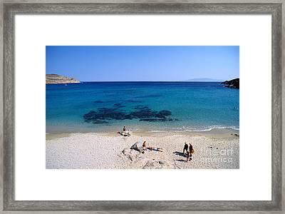 Agrari Beach Framed Print by George Atsametakis
